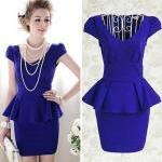 Elegant Royal Blue Peplum ..